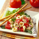 Tortellini, Fresh Tomato and Pea Salad