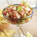 Watermelon Toasted Jalapeno and Shrimp Pico de Gallo